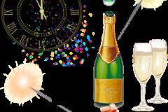 boldog új évet kívánok pezsgő óra
