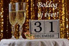 boldog új évet pezsgő