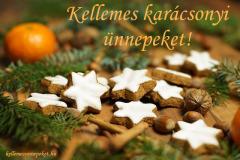 kellemes karácsonyi ünnepeket mézeskalács