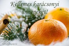 kellemes karácsonyi ünnepeket narancs