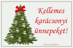 kellemes karácsonyi ünnepeket fa masni