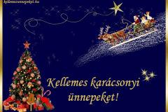 kellemes karácsonyi ünnepeket fenyő mikulás