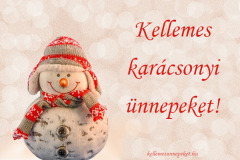 kellemes karácsonyi ünnepeket hóember