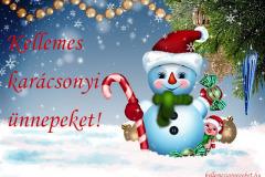 kellemes karácsonyi ünnepeket hóember 1