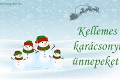 kellemes karácsonyi ünnepeket hóemberek