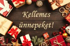 kellemes ünnepeket ajándék barna