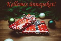 kellemes ünnepeket ajándék fenyő