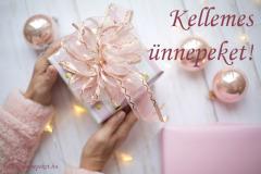 kellemes ünnepeket ajándék pink