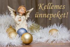 kellemes ünnepeket angyal arany