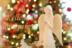 kellemes ünnepeket angyal fehér