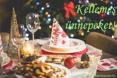 kellemes ünnepeket karácsonyi asztal
