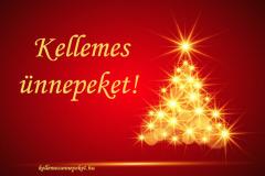 kellemes ünnepeket karácsonyfa piros