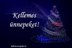 kellemes ünnepeket karácsonyfa kék