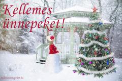 kellemes ünnepeket téli karácsonyfa