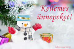 kellemes ünnepeket hóember