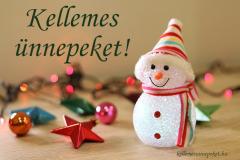 kellemes ünnepeket hóember1