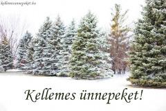 kellemes ünnepeket téli hó