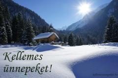 kellemes ünnepeket téli táj
