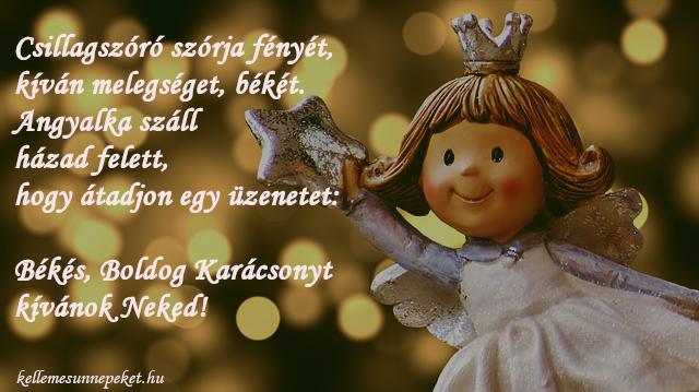 angyalos karácsonyi üdvözlet