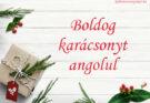 boldog karácsonyt angolul