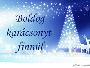 boldog karácsonyt finnül