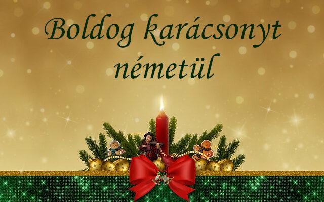 boldog karácsonyt németül