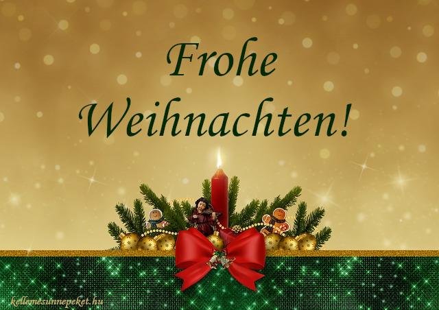 boldog karácsonyt németül, Frohe Weihnachten!
