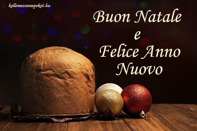 boldog karácsonyt olaszul, Buon Natale e Felice Anno Nuovo