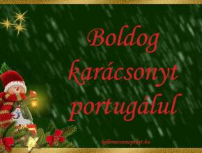 boldog karácsonyt portugálul