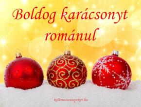 boldog karácsonyt románul
