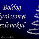 Boldog karácsonyt szlovákul