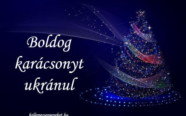 boldog karácsonyt ukránul