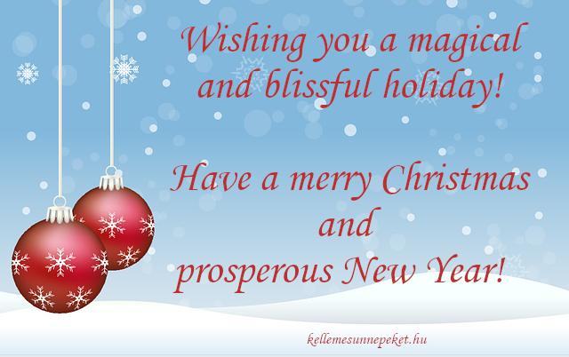 karácsonyi üdvözlet angolul