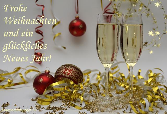 kellemes karácsonyt és boldog új évet németül, Frohe Weihnachten und ein glückliches neues Jahr!