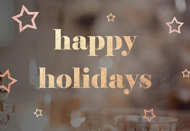 kellemes ünnepeket angolul, happy holidays