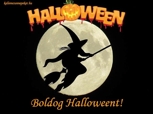 boldog halloweent boszorkány