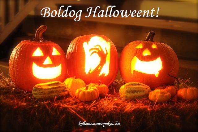 boldog halloweent töklámpás