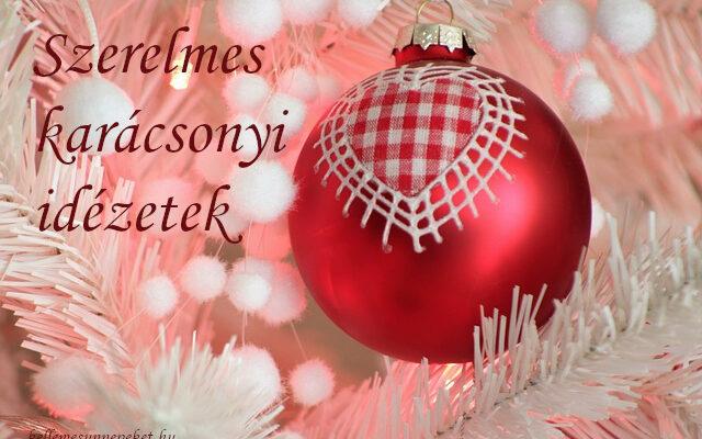szerelmes karácsonyi idézetek