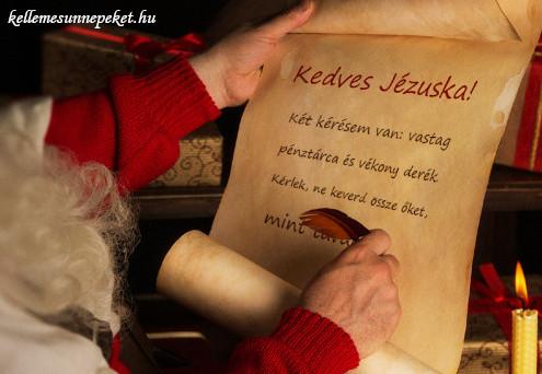 vicces karácsonyi idézet, levél jézuskának