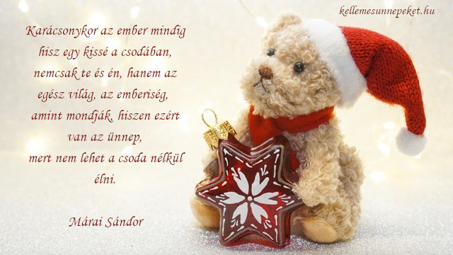 különleges karácsonyi idézet, csoda