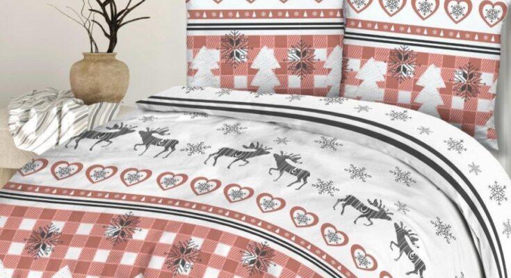 rénszarvasos karácsonyi ágyneműhuzat