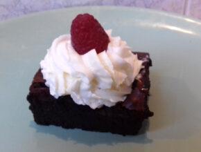 málnás brownie