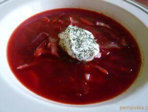 vegetáriánus borscs leves