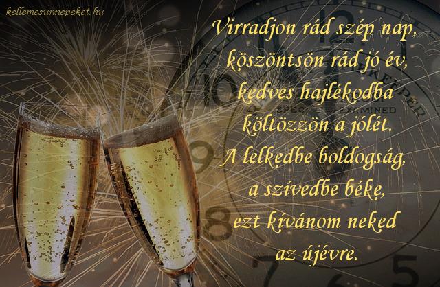 szilveszteri köszöntő, pezsgő, boldogság