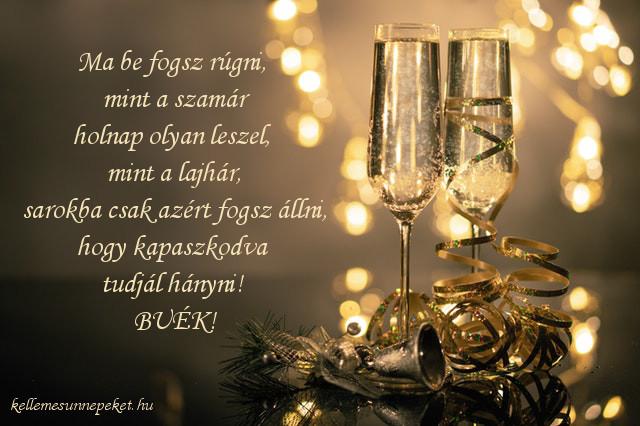 vicces újévi köszöntő, részeges