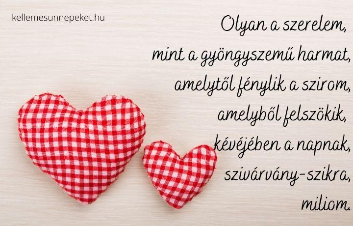 Valentin-napi vers olyan a szerelem