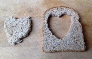 kenyér szív