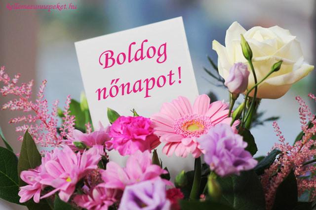 boldog nőnapot virágcsokor