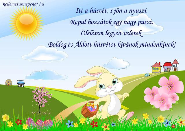 húsvéti üdvözlet puszi nyuszi