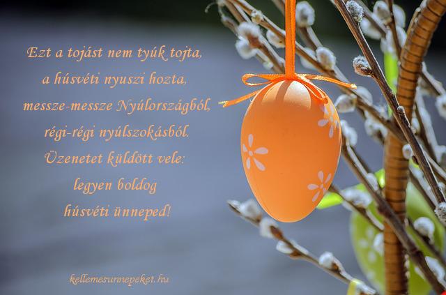 húsvéti üdvözlet tojás